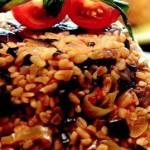 Biberli, Patlıcanlı Bulgur Pilavı